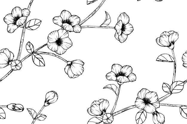 Fondo de flor de cerezo sin fisuras de fondo.