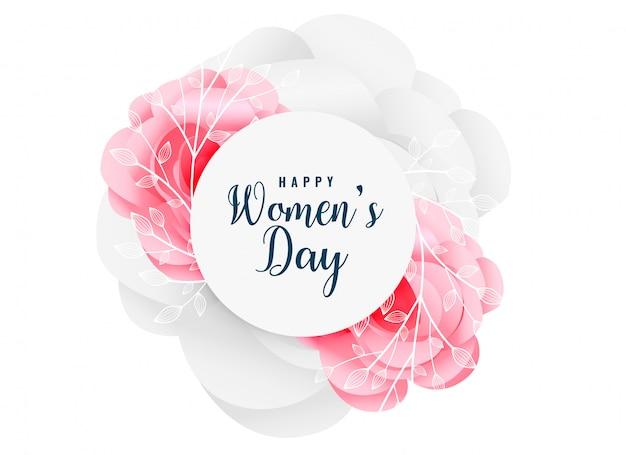 Fondo de la flor del día de las mujeres felices encantadoras
