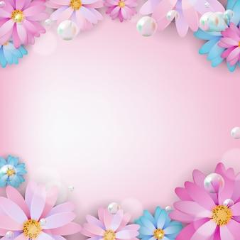 Fondo de flor natural color abstracto. ilustración
