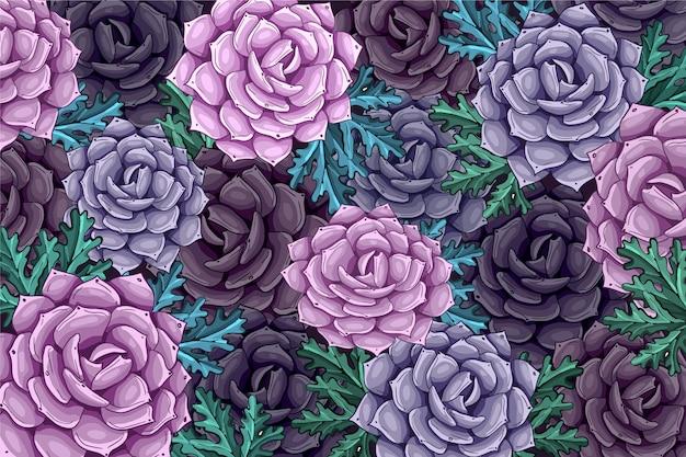 Fondo de flor realista pintado a mano