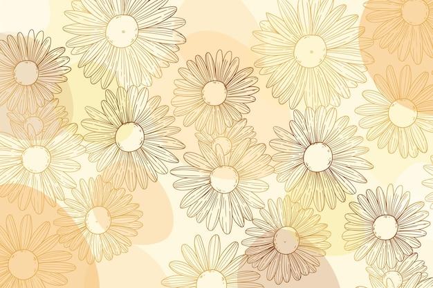 Fondo de flora dorada degradada