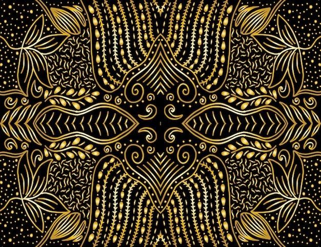 Fondo floral abstracto dibujado mano única del vector