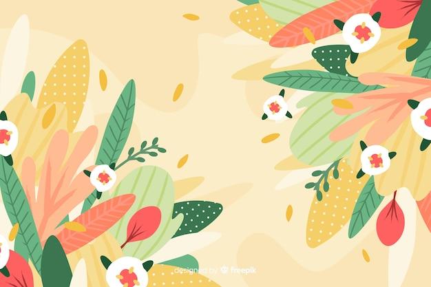 Fondo floral abstracto dibujado a mano