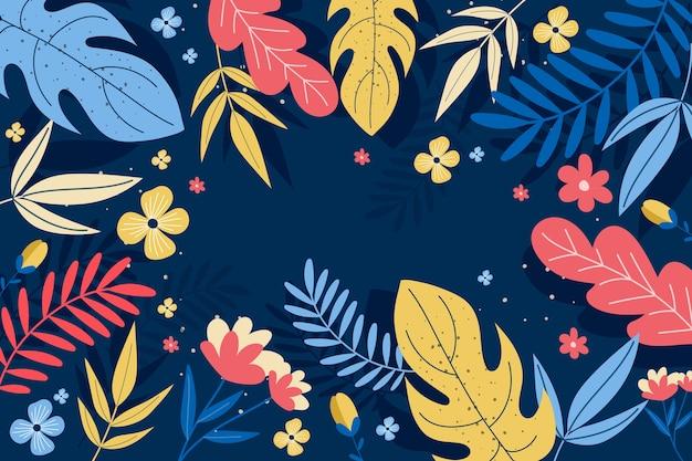 Fondo floral abstracto en diseño plano