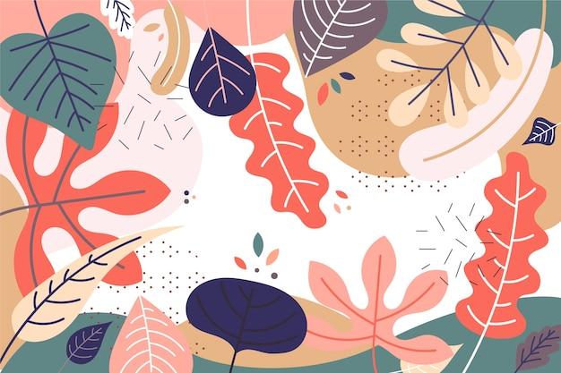 Fondo floral abstracto estilo plano