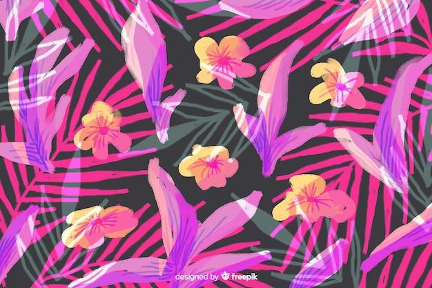 Fondo floral abstracto pintado a mano