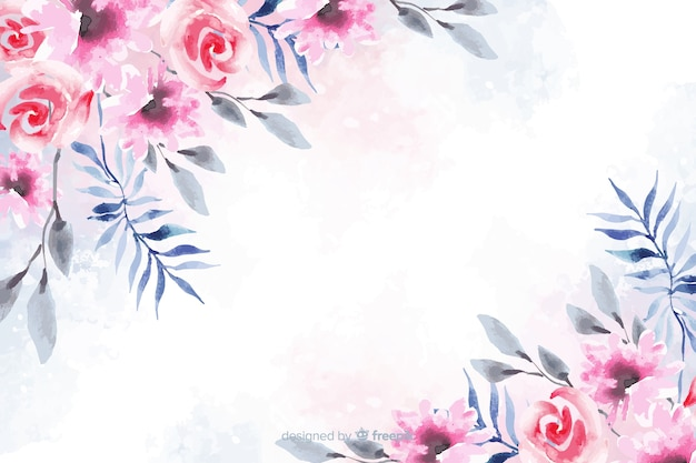 Fondo floral acuarela de color suave