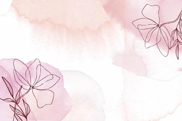 Fondo floral acuarela dibujado a mano