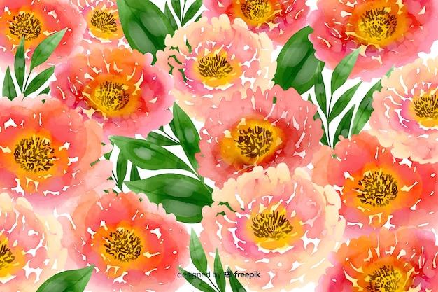 Fondo floral acuarela rosa