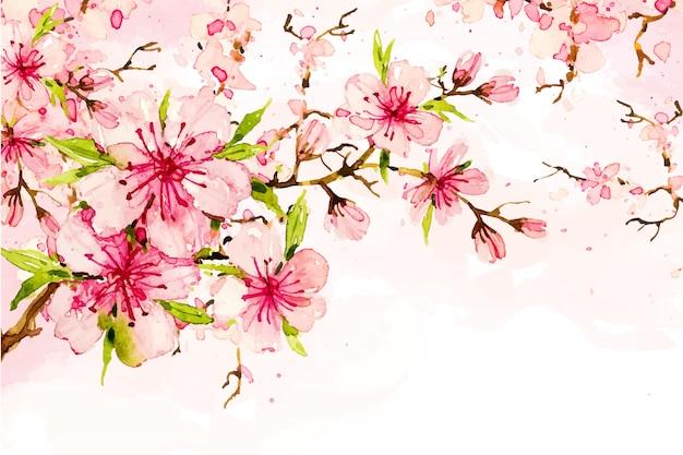 Fondo floral de la acuarela