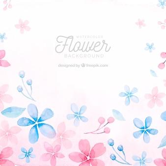 Fondo floral adorable en acuarela