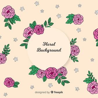 Fondo floral adorble dibujado a mano