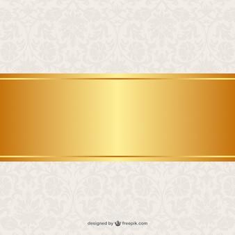 Fondo floral con banner de oro
