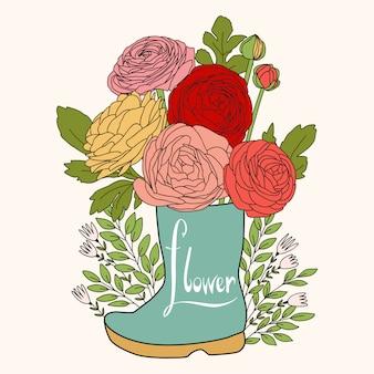 Fondo floral de la boda