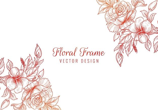 Fondo floral colorido decorativo de la boda