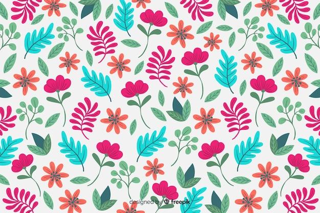Fondo floral colorido dibujado a mano