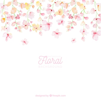 Fondo floral colorido en estilo acuarela