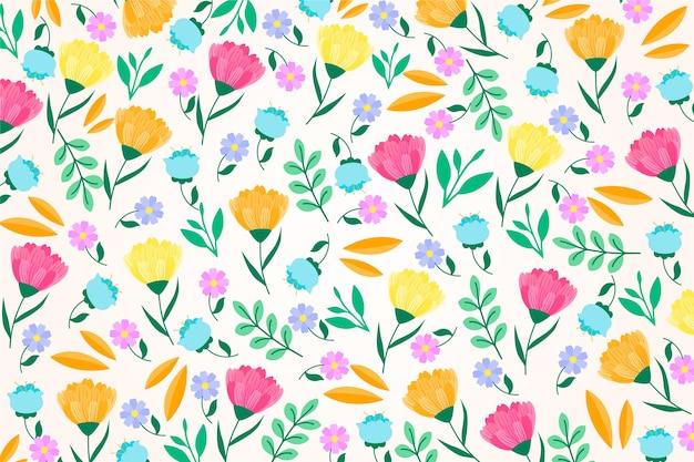 Fondo floral colorido exótico