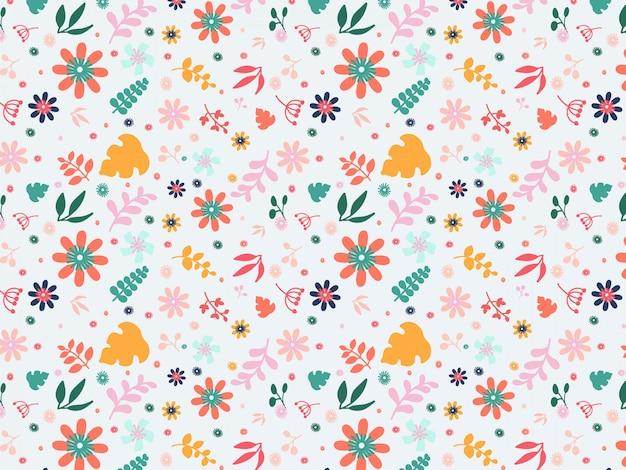 Fondo floral colorido plano