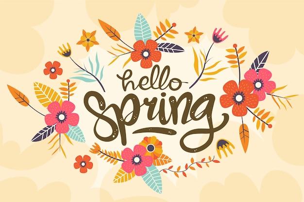 Fondo floral colorido de la primavera