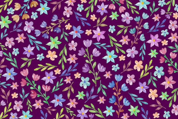 Fondo floral colorido