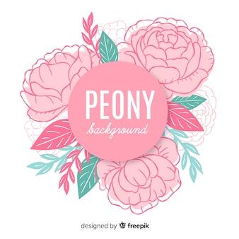 Fondo floral con concepto de peonía