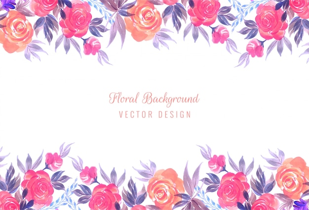 Fondo floral decorativo colorido del marco de la boda