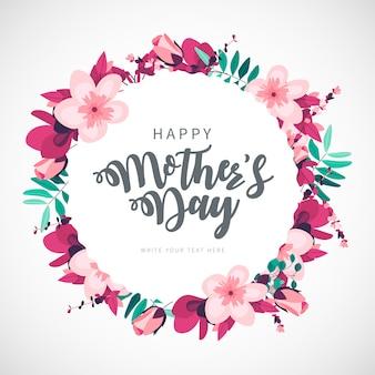 Fondo floral del día de la madre feliz moderno