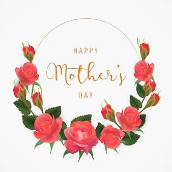 Fondo floral del día de la madre