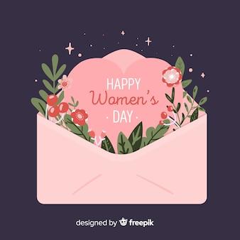 Fondo floral del día de la mujer