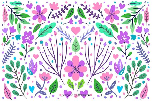 Fondo floral dibujado a mano colores pastel