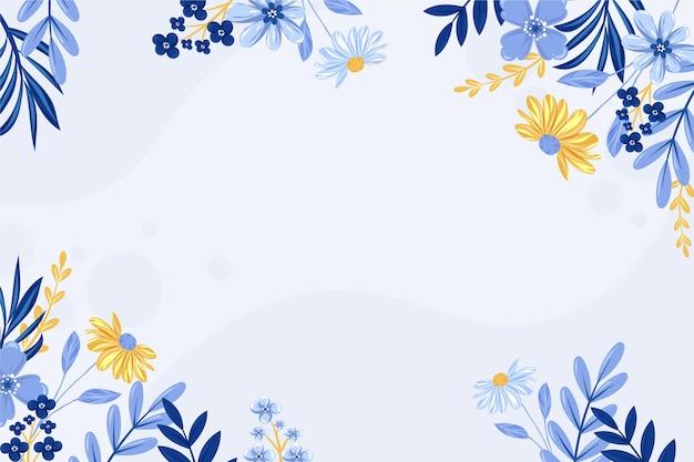 Fondo floral dibujado a mano