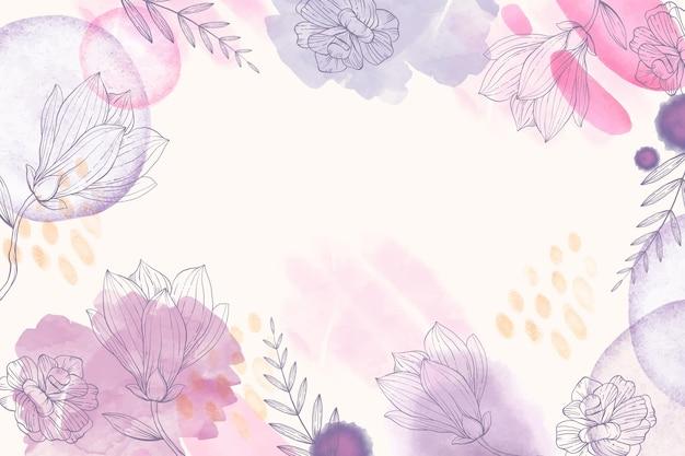 Fondo floral dibujado a mano Vector Premium