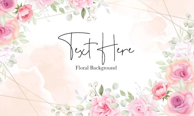 Fondo floral con diseño de flores y hojas suaves
