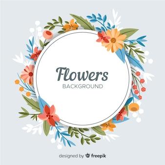 Fondo floral en diseño plano