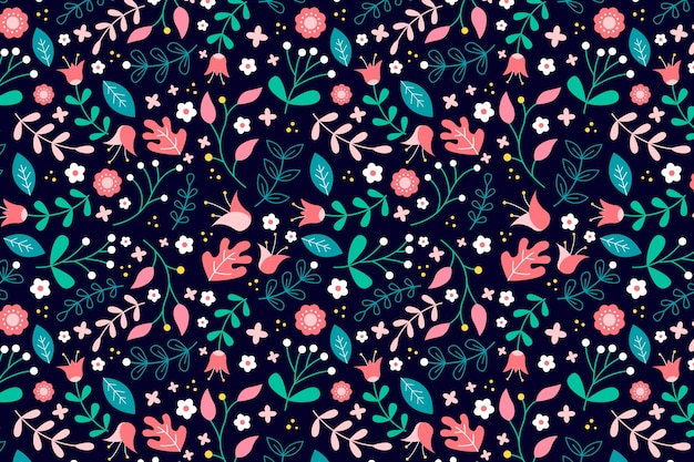 Fondo floral ditsy colorido