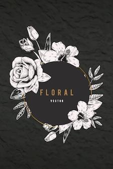Fondo floral enmarcado