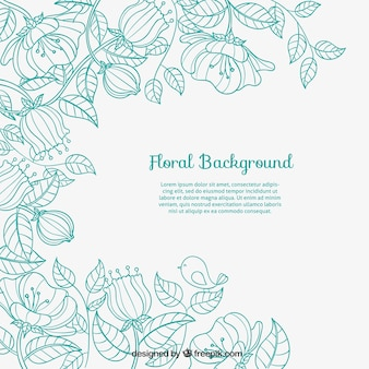Fondo floral esbozado