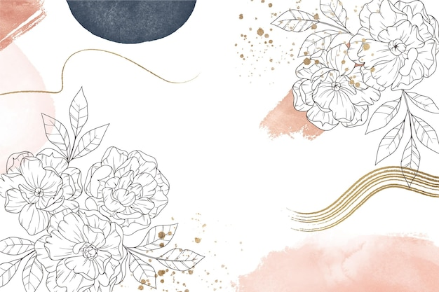 Fondo floral de estilo abstracto Vector Premium