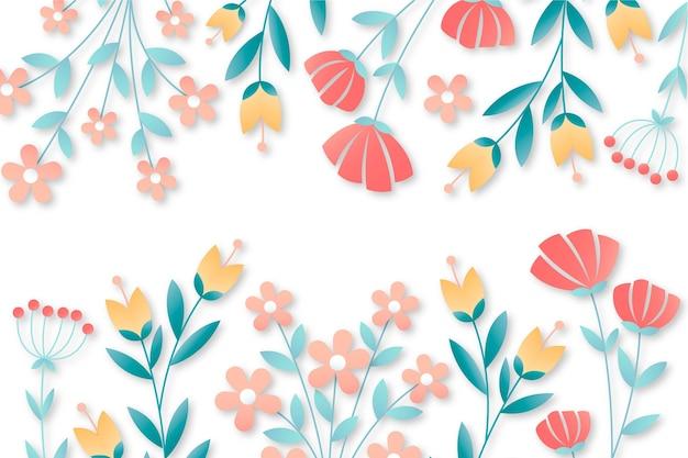 Fondo floral estilo papel