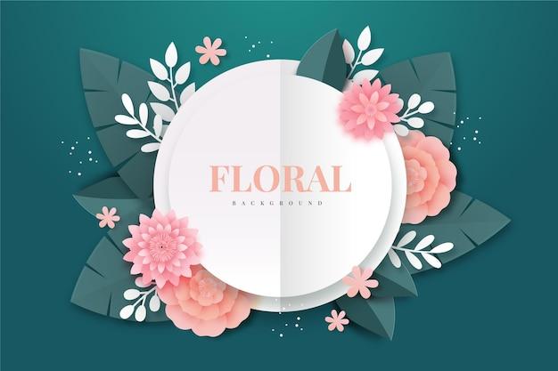 Fondo floral estilo papel vector gratuito