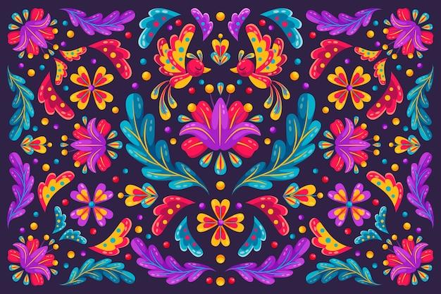 Fondo floral del festival cinco de mayo