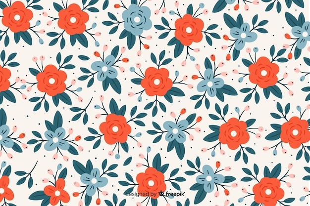 Fondo floral con flores de colores