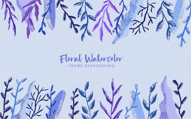 Fondo floral de la frontera de la flor salvaje pintada a mano de la acuarela
