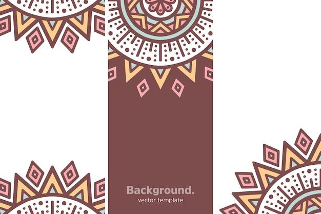 Fondo floral geométrico colorido