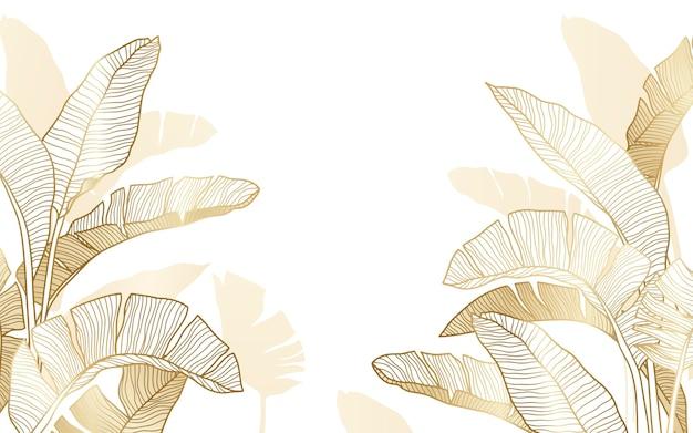 Fondo floral grabado lineal dibujado a mano
