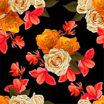Fondo floral hermoso ilustración vectorial
