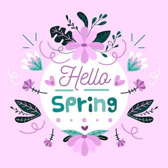 Fondo floral hola primavera