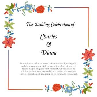Fondo floral de la invitación de la boda
