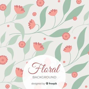 Fondo floral con lindo fondo de hojas verdes